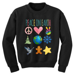 PEACE ON EARTH Youth Sweatshirt | Artistshot