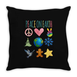 PEACE ON EARTH Throw Pillow | Artistshot