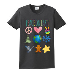 Peace On Earth Ladies Classic T-shirt Designed By Bettercallsaul