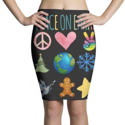 PEACE ON EARTH Pencil Skirts | Artistshot