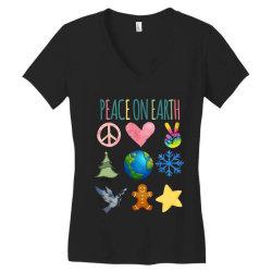 PEACE ON EARTH Women's V-Neck T-Shirt | Artistshot