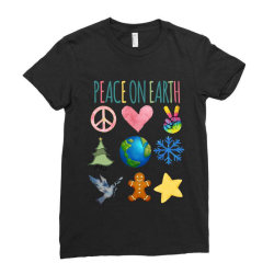 PEACE ON EARTH Ladies Fitted T-Shirt | Artistshot