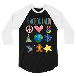 PEACE ON EARTH 3/4 Sleeve Shirt | Artistshot