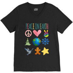 PEACE ON EARTH V-Neck Tee | Artistshot