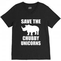 Save The Chubby Unicorn V-Neck Tee | Artistshot
