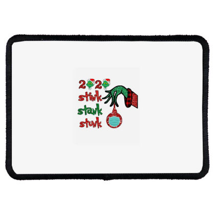 2020 Stink Stank Stunk Elf Christmas Mask Rectangle Patch Designed By Alparslan Acar