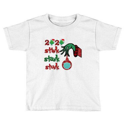 2020 Stink Stank Stunk Elf Christmas Mask Toddler T-shirt Designed By Alparslan Acar