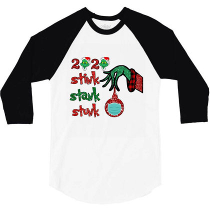 2020 Stink Stank Stunk Elf Christmas Mask 3/4 Sleeve Shirt Designed By Alparslan Acar