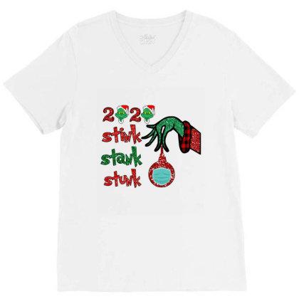 2020 Stink Stank Stunk Elf Christmas Mask V-neck Tee Designed By Alparslan Acar