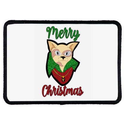 Merry Christmas Cat Rectangle Patch Designed By Bettercallsaul