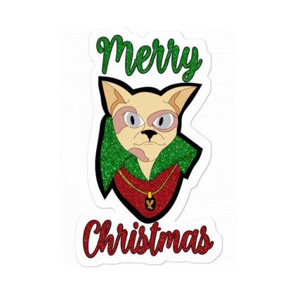 Merry Christmas Cat Sticker Designed By Bettercallsaul
