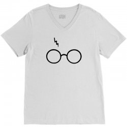 Harry Potter Lightning Glasses V-Neck Tee | Artistshot