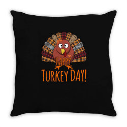 Happy Turkey Day - Thanksgiving Party Throw Pillow Designed By Bettercallsaul