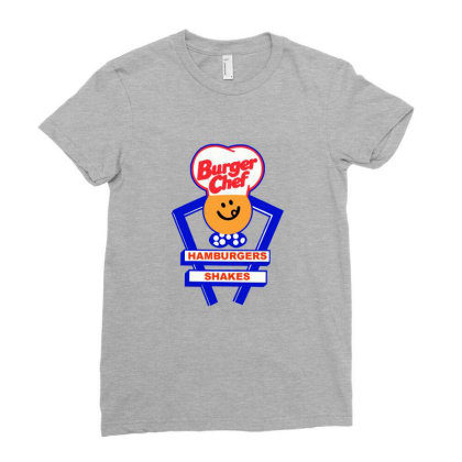 Burger Chef Ladies Fitted T-shirt Designed By Studio Poco    Los Angeles