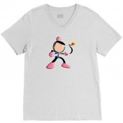 Bomberman V-Neck Tee | Artistshot