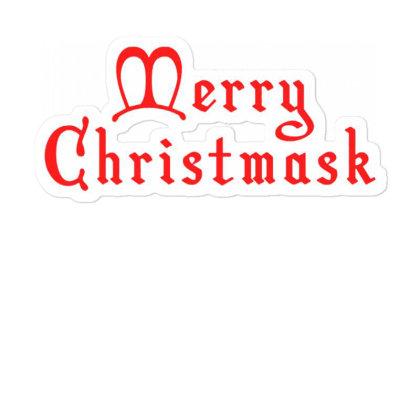 Merry Christmask Sticker Designed By Laravirna