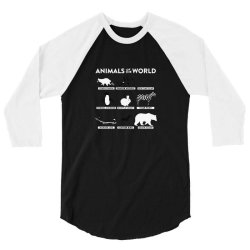 animals of the world classic 3/4 Sleeve Shirt | Artistshot