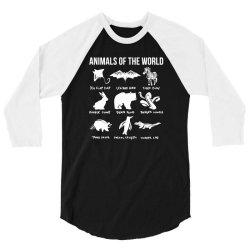 animals of the world funny vintage humor classic 3/4 Sleeve Shirt | Artistshot