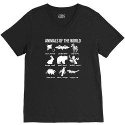 animals of the world funny vintage humor classic V-Neck Tee | Artistshot