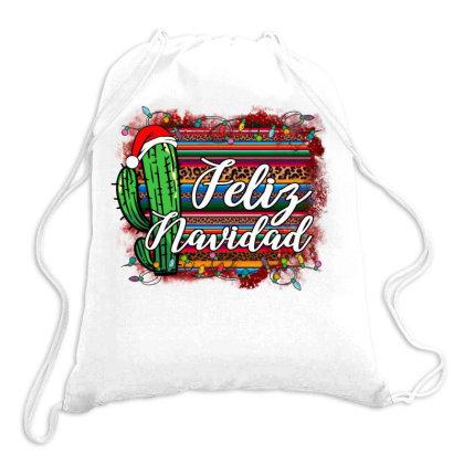 Christmas Feliz Navidad Drawstring Bags Designed By Alparslan Acar