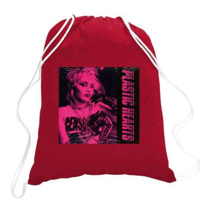 The Plastic Hearts Potrait Drawstring Bags Designed By Vidi Almano
