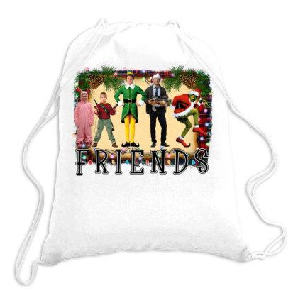 Christmas Friends Drawstring Bags Designed By Alparslan Acar