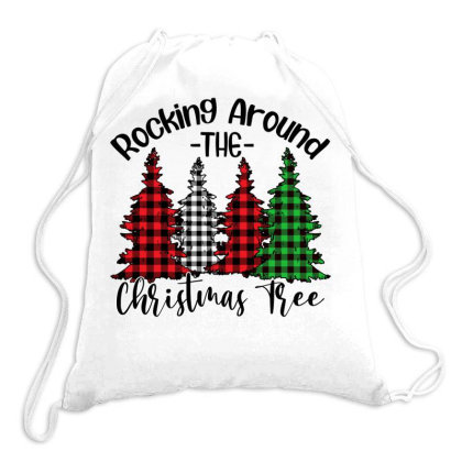 Rocking Around The Christmas Tree Drawstring Bags Designed By Bettercallsaul