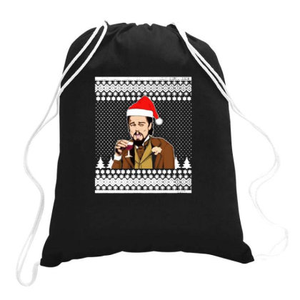 Santa Leonardo Dicaprio Ugly Christmas Drawstring Bags Designed By Yanidindapratiwi