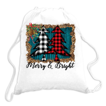 Merry And Bright Drawstring Bags Designed By Alparslan Acar