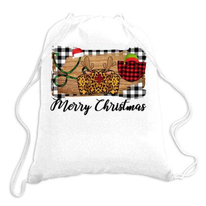 Merry Christmas Nurse Drawstring Bags Designed By Alparslan Acar