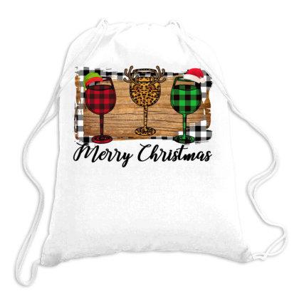 Merry Christmas Wine Drawstring Bags Designed By Alparslan Acar