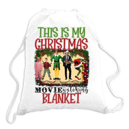 This Is My Christmas Movie Watching Blanket Drawstring Bags Designed By Alparslan Acar
