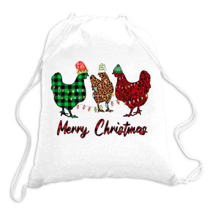 Merry Christmas Chicken Drawstring Bags Designed By Alparslan Acar