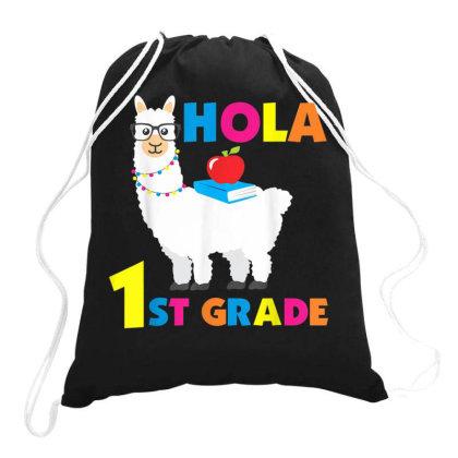 1st Grade Funny Grade School Teacher Llama Lover Drawstring Bags Designed By Koopshawneen