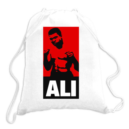 Muhammad Ali The Legend Drawstring Bags Designed By Kimochi