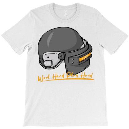 Work Hard Play Hard Helm T-shirt Designed By Dulart