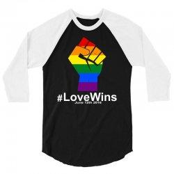 Love Wins 12th 2016 - Orlando Strong 3/4 Sleeve Shirt   Artistshot