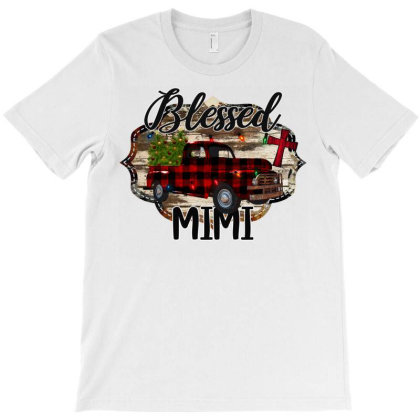 Blessed Mimi Christmas Truck T-shirt Designed By Bettercallsaul
