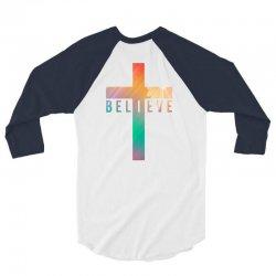 i believe cross 3/4 Sleeve Shirt | Artistshot