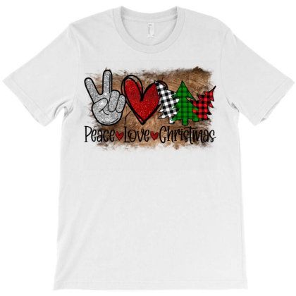 Peace Love Christmas T-shirt Designed By Bettercallsaul