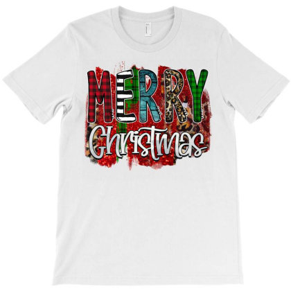 Merry Christmas Buffalo Plaid Leopard T-shirt Designed By Bettercallsaul