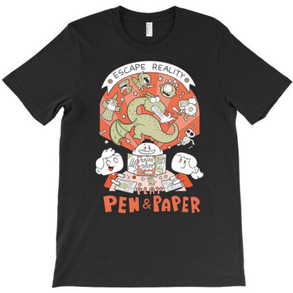 Escape Reality Play Pen And Paper T-shirt Designed By Koopshawneen