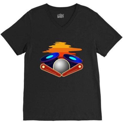 Pinball, Pinball Pinball Tournament, Pinball Lover, V-neck Tee Designed By Cuser2870