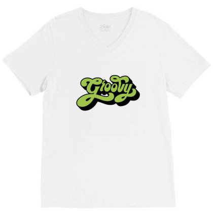 Groovy V-neck Tee Designed By Chiks