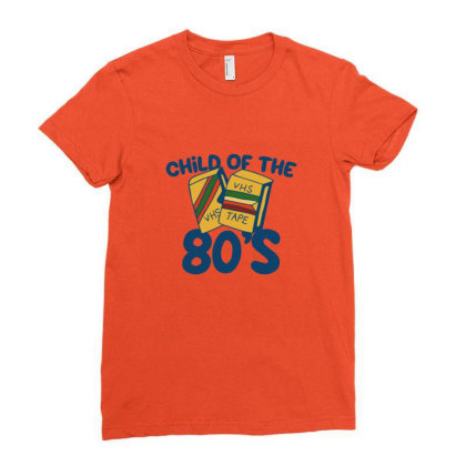 Child Of The 80s Ladies Fitted T-shirt Designed By Blackstone