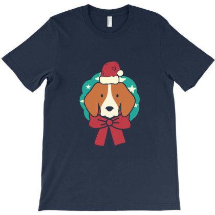 Christmas Dog T-shirt Designed By Blackstone