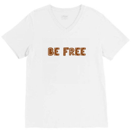 Be Free V-neck Tee Designed By Chiks