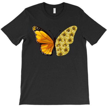 Butterfly Sunflower T-shirt Designed By Ashlıcar