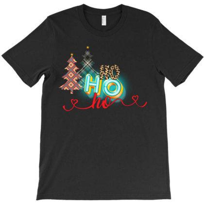 Ho Ho Ho Retro Tree T-shirt Designed By Rardesign