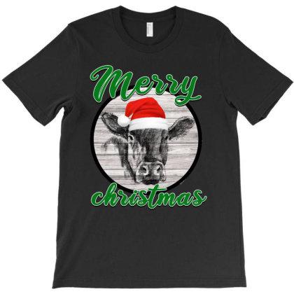 Cow Christmas T-shirt Designed By Ashlıcar